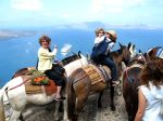 Barb, Jean, Meg and Kathy on a Donkey ride in Santorini.2519